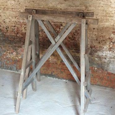 Oude houten tafelbladen