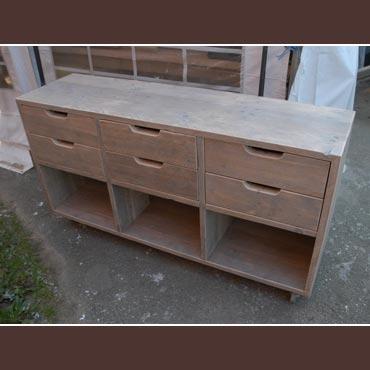 Dressoir 39 keuken 39 in gebruikt steigerhout indoor meubelen rawcreations bvba - Dressoir originele keuken ...