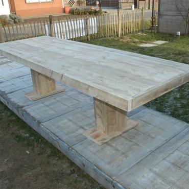 Tuintafel tafel 39 sedona 39 in oud steigerhout indoor for Steigerhout tuintafel