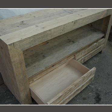 Badkamermeubel Type A-A-001 met schuiven in gebruikt steigerhout ...