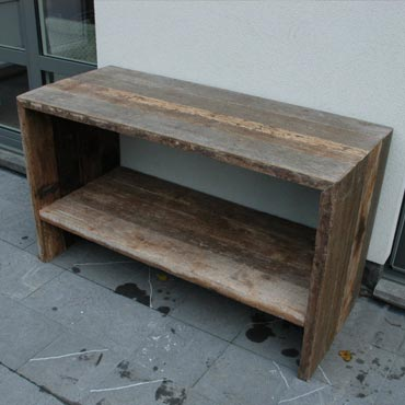 Grote Side Table.Side Table In Azobe Scheepsvloer Side Tables Outdoor Meubelen