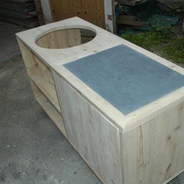 Steenschot tafel maken