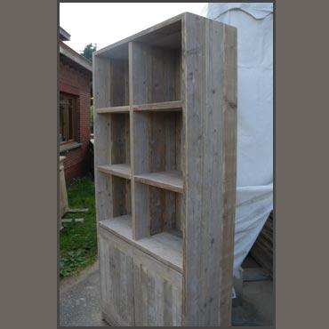 Boekenkast III in oud steigerhout | Kasten | Indoor | Meubelen ...