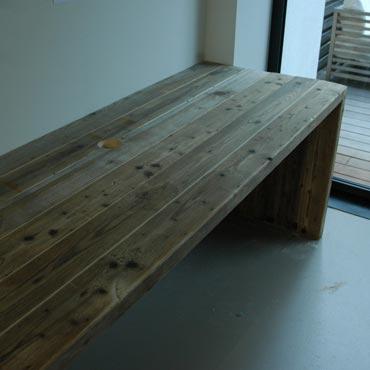 Bureau op maat in gebruikt baddingenhout 1