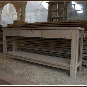 Sidetable 39 vital 39 in oud steigerhout outdoor meubelen for Sidetable steigerhout