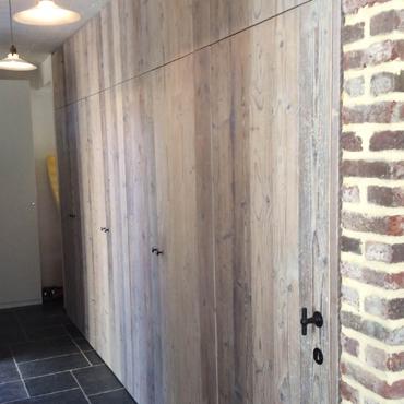 Binnendeur in gebruikt steigerhout 1