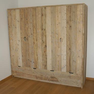 Kleerkast In Gebruikt Steigerhout Kasten Indoor