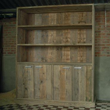 Rawcreations boekenkast 2ii in oud steigerhout for Boekenkast steigerhout