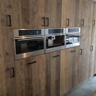 Keukens op maat in gebruikt steigerhout en accoya hout 4