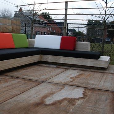 Loungeset 'cuba' in accoya hout 1