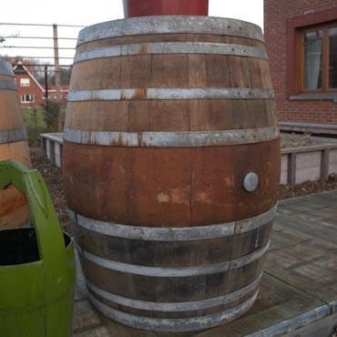 Houten / Eiken Ton regenwater 450L - uniek