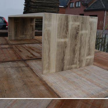 Tafel 'luca' in accoya hout