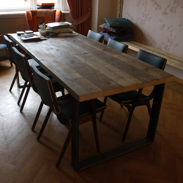 Tafelblad steigerhout lijmen ge mpregneerd hout schoonmaken for Tafelblad steigerhout maken