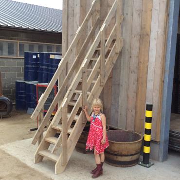 Trappen / traptreden in gebruikt steigerhout, ... 3
