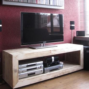 Wit Tv Meubel Op Wielen.Tv Meubel 2 Op Wielen In Gebruikt Steigerhout Tv Meubelen Indoor