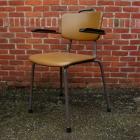 11 industriele stoelen 'vintage' metaal + groen skai