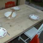 Tafel / Tuintafel Type T-C-003 in oud steigerhout