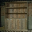 Boekenkast 2II in oud steigerhout