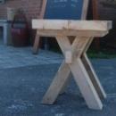 Kruk 'kloostertafel' in oud steigerhout
