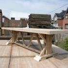 Kasteeltafel 'goedhart' in oud steigerhout