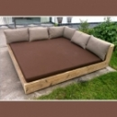 Lounge ligbed 'Annelore' in gebruikt steigerhout