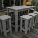 Bar + 8 krukken in Gebruikt Steigerhout