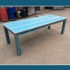 Tafel / Tuintafel 'BLUE' in oud steigerhout
