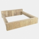Bed Massief - 2 persoons in gebruikt steigerhout