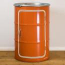 Kastje olievaten 210l - oranje - zwart - wit
