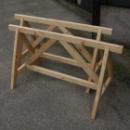 Oude houten schragen 130l x 60b x 67h