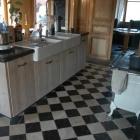 Keukens op maat in gebruikt steigerhout en accoya hout