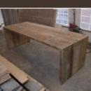 Tafel / Tuintafel Type 'U' in dik oud hout