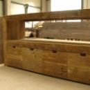 Badkamermeubel Type A-A-001 met bakjes in gebruikt steigerhout