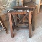 Oude houten schragen 72h x 46d x 60b