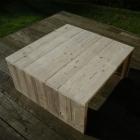 Vierkante salontafel in oud steigerhout