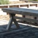 Bank 'kloostertafel' in oud steigerhout