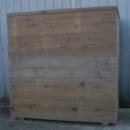 Hoge Bloembak in gebruikt steigerhout