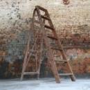 Oude houten ladder 148l x 46b