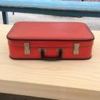 Vintage rode koffer