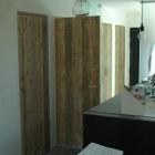 Binnendeur in gebruikt steigerhout, old barnwood, oude eik, ...