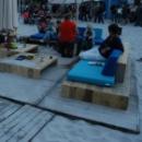 VERHUUR Loungebank 'Trezart' in gebruikt baddingenhout