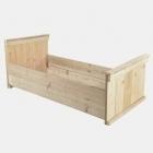 Eénpersoonsbed 'Hoog' in gebruikt steigerhout