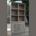 Boekenkast III in oud steigerhout