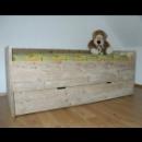 Bed met lade in gebruikt steigerhout