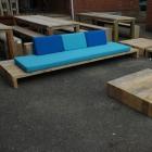 Loungebank 'Trezart' in gebruikt baddingenhout
