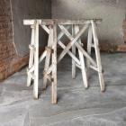 Vintage houten schragen 130h x 111b x 60d