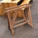 Oude houten schragen 85 H x 99 B x 47 D