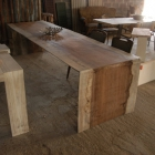 Hardhouten boomstam tafel / Uniek stuk