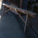 Oude houten schragen 285l x 90h x 46b