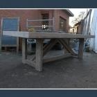 Tafel / tuintafel 'guido' in oud steigerhout + baddingenhout